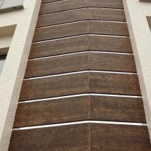 Фасадна обшивка от циментфазер с имитация на дърво