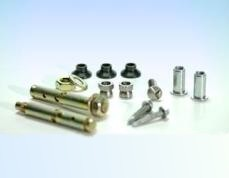 Steel dowels, screws and bolts