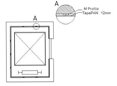 обшивка на асансьорна шахта с фиброцимент